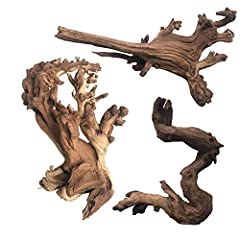 Made of high grade driftwood, solid and durable, long lasting in underwater or arid environments Authentic natural wood adds realistic beauty.Unique shapes that adds to the aesthetic value of the tank Package included 3pcs driftwood Each piece is uni...