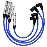 Spark Plug Wire Set Replacement for VW Jetta Golf GL GLS GTI Beetle 2.0L-L4 1998-2001 2011-2014 Replace# 57041 VWC035 Blue