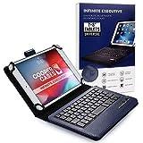 7-8'' Zoll Tablet Hülle mit Tastatur, Cooper Infinite Executive 2-in-1 kabellose Bluetooth-Tastatur 5magnetisch Reiseetui Schutzhülle Etui Tasche Mappe + 8-7