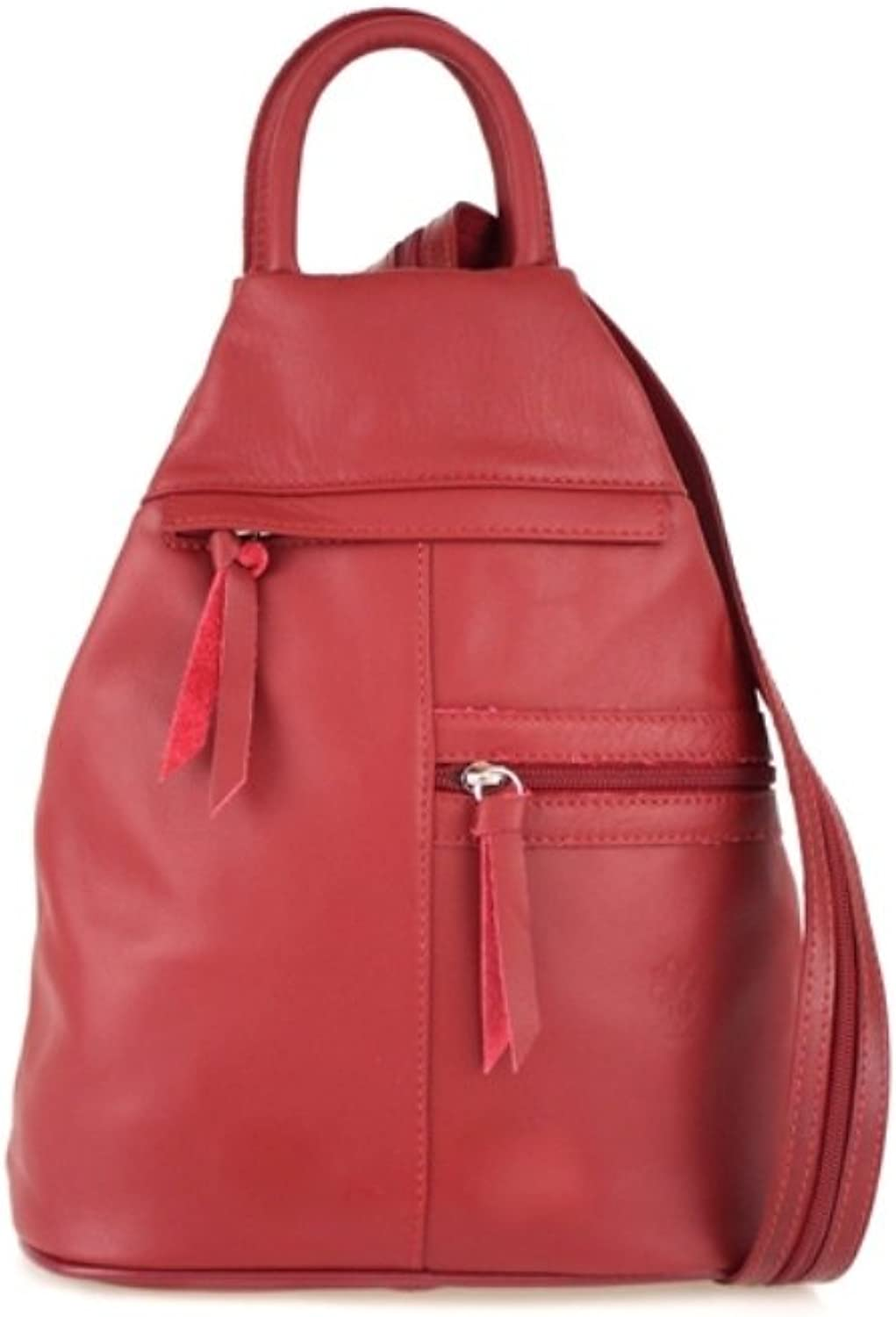 ZETA SHOES Women's Genuine Leather Backpack Made in  Handmade 25x30x14 MainApps
