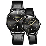 OLEVS Valentine's Romantic Couple Watches His and Hers Ultrathin...
