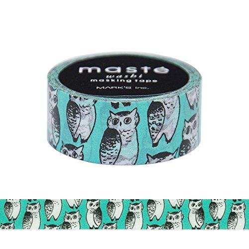 Maste Marble Sud Washi-Tape, Klebeband, Abdeckband, Eulen-Design