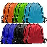 Drawsting Bags Backpack Bulk Cinch Bag Draw String Sport Bag 6 Color (36 pcs, 6 Color)