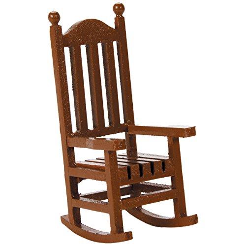 Darice 9190562 Timeless Miniatures Wood Rocking Chair