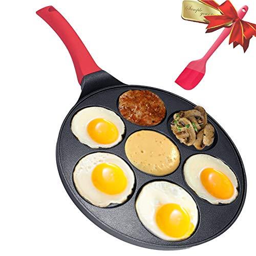 Smile Pancake Pan  Pancake Griddle Shapes  Nonstick Smiley Face Pancake Pan Nonstick 7 Mold Smiley PancakeDAYOOH