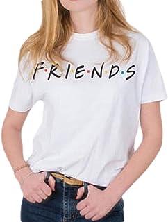 GAGA Women Summer FRIENDS Printed Short Sleeve Round Neck T-shirts Tees