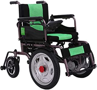 ZHANGYY Sillas de Ruedas eléctricas Sillas de Ruedas duraderas Motor Doble Potencia Potente Silla de Ruedas Plegable Batería de Litio de Alta Capacidad Adecuado para Personas con discapaci