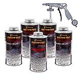 Custom Coat Black 0.875 Gallon Urethane Spray-On Truck Bed Liner Kit with Spray...