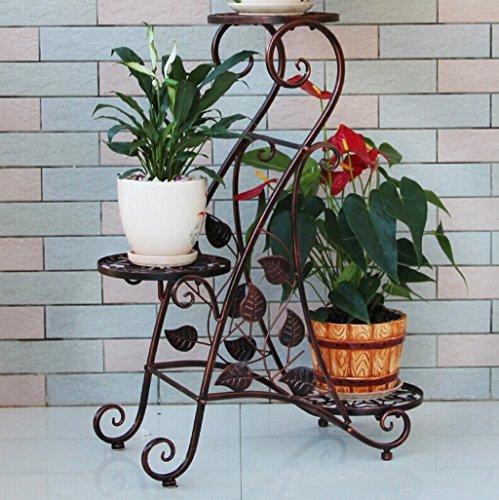 Porte-grenier en acier inoxydable à 3 niveaux Support intérieur pour piscine antirouille (noir / rouge bronze / blanc) ( Couleur : Bronze )