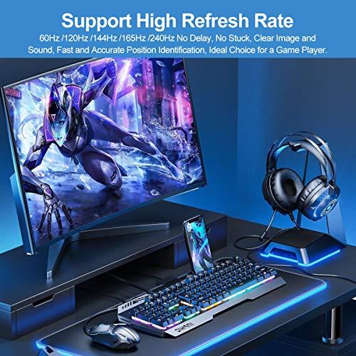 Mini DisplayPort auf DisplayPort (DP)3M 1.4 8K Kabel unterstützen Bi-direktionale Übertragung, UHD 8K (7680X4320) @60Hz /4K @144Hz, DP auf Mini DP Kabel