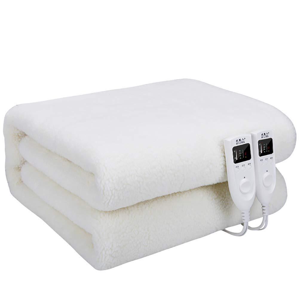 L@LILI Manta eléctrica 5 ajustes de Calor incorporados en el Sistema de protección contra sobrecalentamiento avanzado Controles duales-para Todo Uso Nocturno,White,180 * 150cm: Amazon.es: Hogar