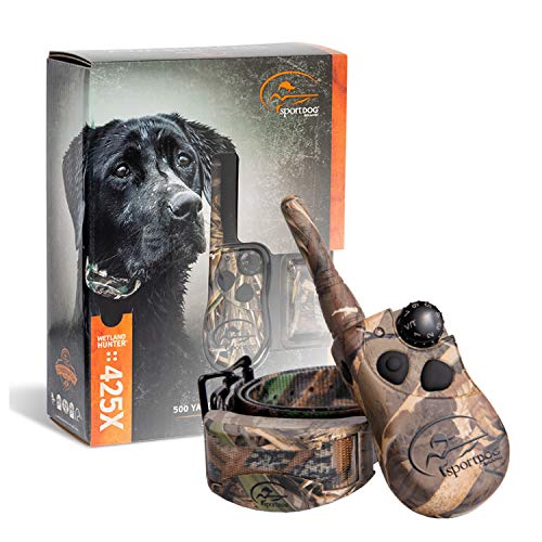 SportDOG Brand 425 Remote Trainers - 500 Yard Range E-Collar with Static, Vibrate and Tone - Waterproof, Rechargeable - Including New X-Series, Camouflage E-Collar