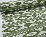 Confección Saymi Metraje 2,45 MTS Tejido loneta Estampada Ref. Mallorquina Verde, con Ancho 2,80 MTS.