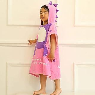 Print Yoga Mat Children'S Bathrobe Cloak Hooded Drinking Towel Cartoon Little Dinosaur Beach Towel Bathrobe Cloak Pink 瑜伽垫