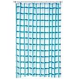 kela Duschvorhang Laneta 180x200cm aus Polyester in türkis, Vinyl, 200 x 180 x 0.8 cm
