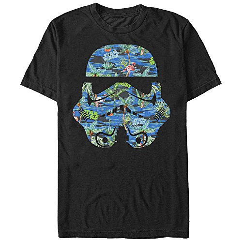 Star Wars Men's Hula Helmet Graphic T-Shirt, Black, M