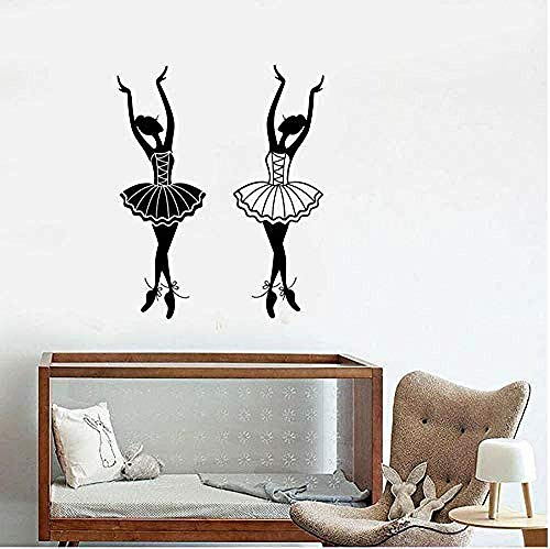 Wall stickers,Ballerina Quote Art Decal for Home Bedroom Office Saying Mural Wallpaper Birthday Gift 57X40Cm