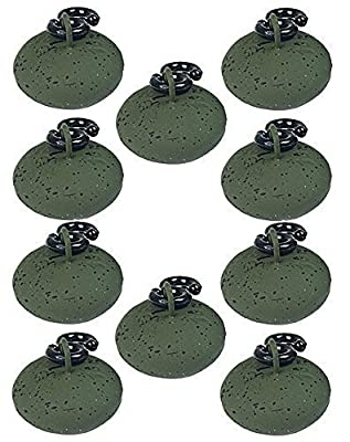Carp Fishing Tackle 10 Green Coated 1 oz Back weights Easy Running from NGT