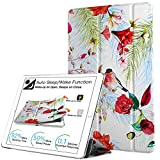 DuraSafe Cases For iPad Mini 1st Gen / Mini 2nd Gen / Mini 3rd Gen - 7.9 Slimline Series Lightweight Protective Cover with Dual Angle Stand & Clear PC Back Shell - Birds & Flowers