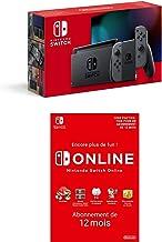 Console Nintendo Switch avec une paire de Joy-Con grises + Nintendo Switch Online - Abonnement 12 Mois (Code de télécharge...