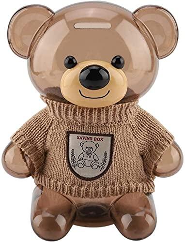 TSUSF Piggy Bank Children Moneda Piggy Bank Caja de Dinero para niños Encantadora de Dibujos Animados Bear Forma Decoración del hogar, Los Mejores Regalos de cumpleaños de Navidad para niños Niñas