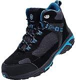 DURA-ANTISKID Botas de Seguridad Punta compuesta Hombre Zapatos de Seguridad SRC S1P Botas de Trabajo (Negro Azul,42EU)