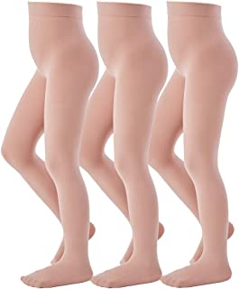 Ballet Tights for Girls Footed Dance Tights 3 Pairs Ultra-Soft Age 4-12