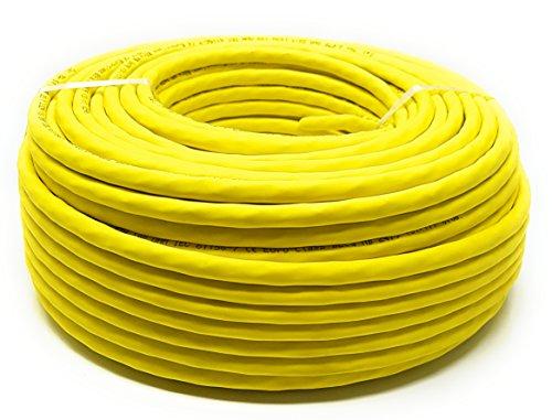 50M - Cavo LAN di rete Cat.7A + (Cat 8) Ethernet (bobina - tamburo) 1500 MHz - 4 paia - Alta velocità - Senza alogeni / rame / Super veloce - (PoE) / PoE + (giallo)