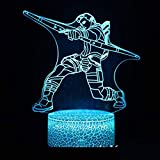 Hollywood Movie Cartoon Spiel Charakter Superheld Helden Superwarrior Attentäter Kinder Geschenk Led Nachtlicht Dekoration Tischlampe
