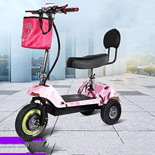 Xiaokang Mini Triciclo eléctrico de Alto Valor, Coche eléctrico Femenino Adulto pequeño, Scooter Viejo,A