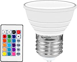 LED RGB Spot Light Colour Changing Dimmable Bulbs with Remote Control Ambient Lamp White Garden Furniture