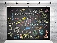 新しい7X5FTアート学校に戻る写真の背景幾何学図形黒板写真の背景キッズ写真7X5FT写真学校の背景に戻る黒板写真ブース背景スタジオ