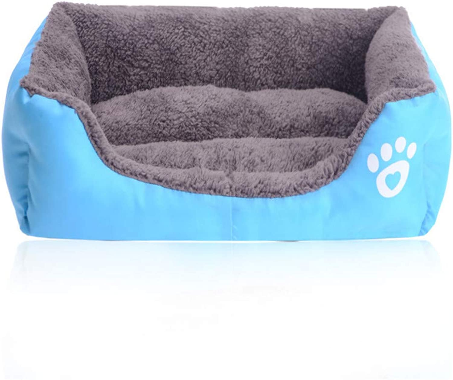 10 colors Large Dog Bed Padded Soft Pet Nest House Warm Indoor Dogs Sleeping Kennel Cushion For Cat Puppy bluee 80x65x17cm