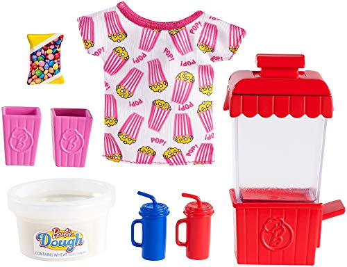 Barbie Pack de Accesorio Pasteleria y Cocina, Maquina para Hacer Popcorn (Mattel GHK39)