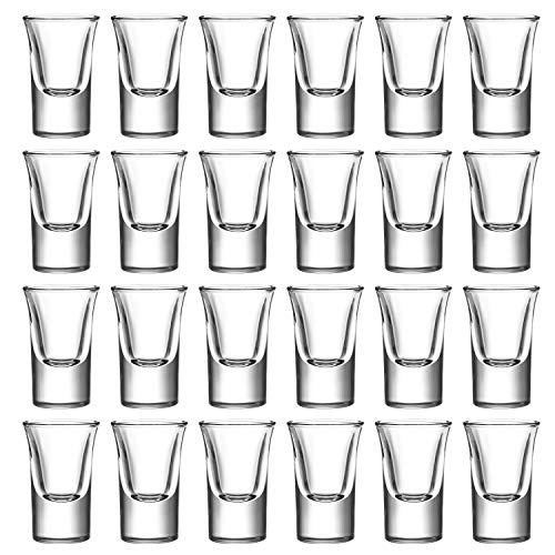 1.2oz / 35ml Shot Glass Set with Heavy Base, Clear Shot Glasses for Whiskey, Vodka and Liqueurs, Set...