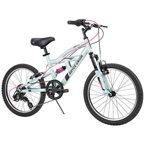 Royce Union Kids Aluminum Mountain Bike, Girls, Dual Suspension, 6-Speed 20inch, RTX