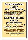 Eurojackpot-Lotto 5 aus 50 plus 2 aus 10 Eurozahlen: Euro-Millions-Lotto 5 aus 50 plus 2 aus 12 Sternen