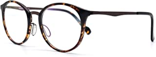 HKUCO Special print Clear Lens Frame Glasses Circle Frame