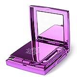ACOMG Miroir LED de Maquillage de Voyage de Miroir Compact allumé, grossissement 1X / 10X, Miroir de Remplissage portatif au trésor, Cadeau Parfait pour Femme Fille Amie