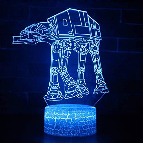 Transport Dog 3D Night Light/LED Illusion Night Light, 7 Changement de couleur lumière décorative lumière, tactile/télécommande, Base de Crack, Convient pour Bars, Clubs