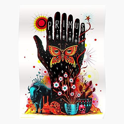 Go Lobest Hareudang Heavy Metal Primus International Logo Music Band Trending Popular Selling Alternatif Best Regalo para la decoración del hogar Wall Art Print Poster 11.7 x 16.5 inch