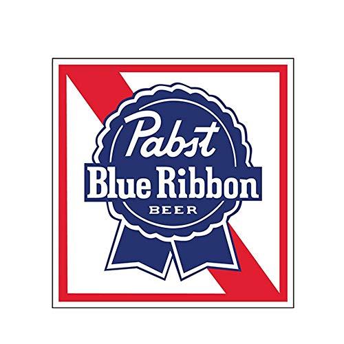 12 cm x 12 cm PABST BLUE RIBBON Aufkleber Aufkleber Bier Stoßstange Fensterleiste Lustige Auto Aufkleber Auto Styling