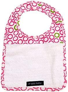 Ah Goo Baby Bib, 100% Cotton Terry Cloth, Wrap Around Collar, Bubbles in Juice Pattern
