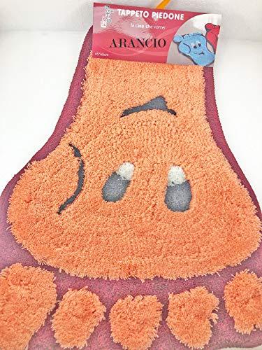 UTILISSIMI Tappeto Bagno Antiscivolo Spugna PIEDONE 45 x 65 cm Ideale Bagno Bambini 5 Colori Disponibili Rosa Beige Marrone Arancio Verde