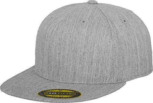 Flexfit Erwachsene Mütze Premium 210 Fitted, grau (heather), S/M