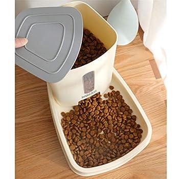 HEELPPO Distributeur Croquettes pour Chien Distributeur Croquettes Chat Automatique La Nourriture et de l'eau d'alimentation Mis Chien Bol d'eau Yellow,Food Feeder