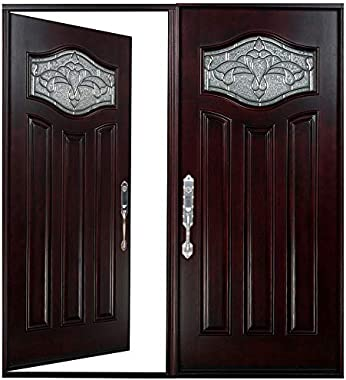 "Double Door Contemporary Entry Door with Glass Heavy Mahogany Door for Entrance Door Front EntryMPAIRS-1 (Left Hand, 36""x"