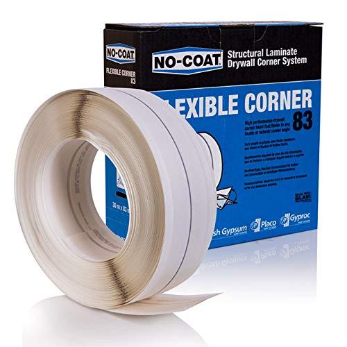 RIGIPS NO-COAT Flexible Corner Kantenschutz 30m 83mm Trockenbau Eckschienen EasyFlex Eckschutzprofile Winkelausbildungen FLEX Multi-Komfort-Eigenschaften Eckband