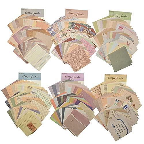 360 Hojas Papeles Scrapbooking Tarjetas Manualidades Decoración Kit de Scrapbooking de DIY Decoración Álbumes de Recortes Calendarios Tarjetas Sobres Regalos