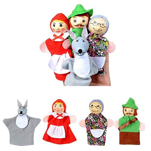 N\A Dibujos Animados Animal Mano Marioneta Juguetes Cumpleaños Navidad Regalo Juguetes Educativos Dedos Marionetas para La Pascua para Los Niños Niños rol-Juego UNA